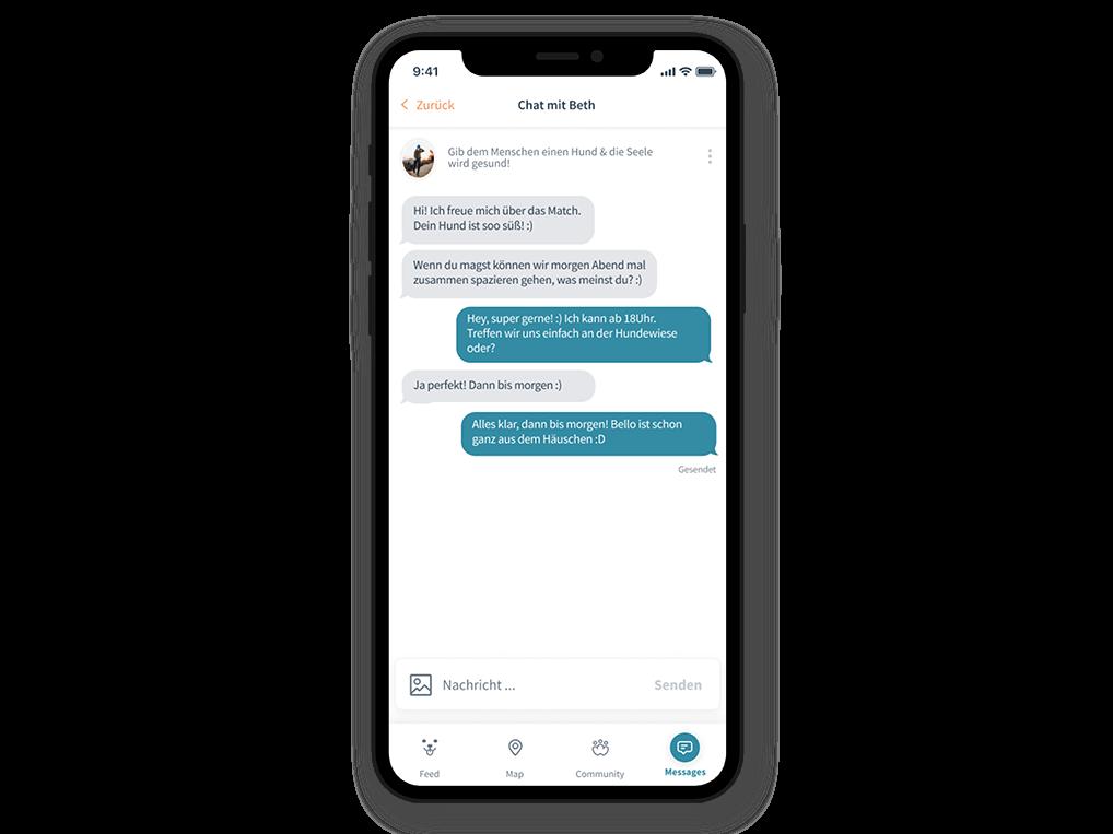 Patzo Hunde App: Chat