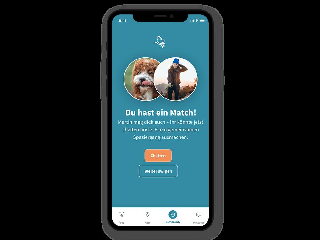 Patzo Hunde App: Matching